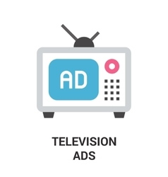 Television ads icon vector