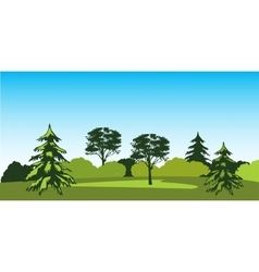 Timber landscape vector