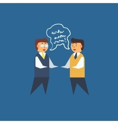 Two man having discussion vector