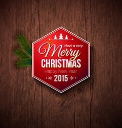 Typographic label for Merry Christmas and Happy vector image