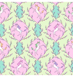 Unicorn pattern spring vector image