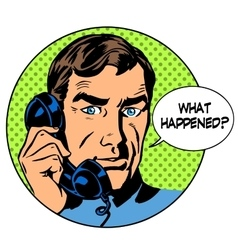 What happened man phone question online support vector