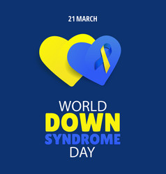 world down syndrome day vector image