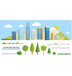 city constructor elements vector image