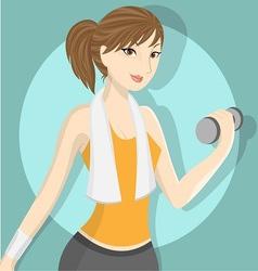 fitness girl 2 vector image