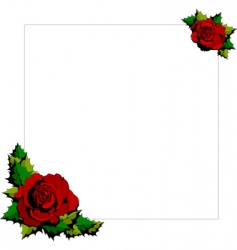 rose cartoon background vector image