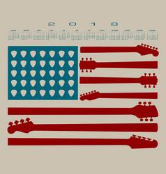 2018 calendar with an american flag vector image