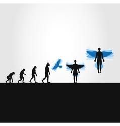 Evolution in a bird vector image
