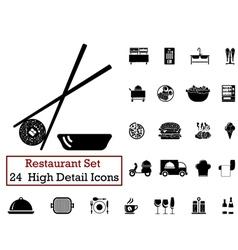 icon set restaurant vector image