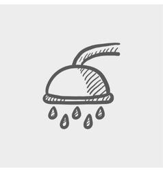Shower sketch icon vector image