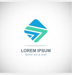 square line company logo vector image vector image