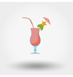 Tropical summer coctail vector image