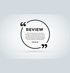 website review quote citation blank template vector image