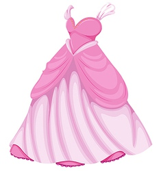 A beautiful pink dress vector image vector image