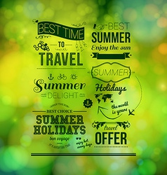 Abstract summer poster Soft bokeh background vector image vector image