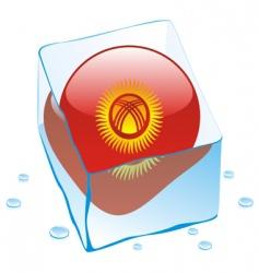 Kyrgyzstan flag vector image vector image