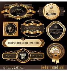 set of golden luxury frames vector image vector image