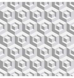 Abstract geometrical 3d white background vector image