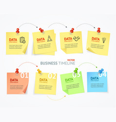 business pin paper menu infographic vector image vector image