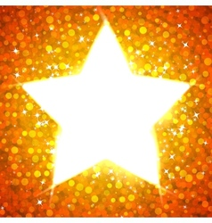 Gold star card template vector image
