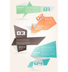 Origami Style Options Banner vector image
