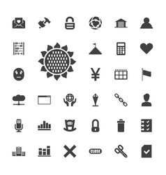 33 web icons vector