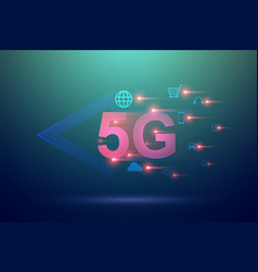 5g wireless hi-speed internet and internet of vector image