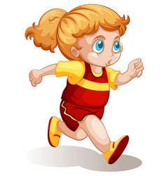 A chubgirl running vector