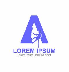 A letter climbing logo vector