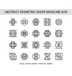 abstract geometric shape monoline 55 vector image