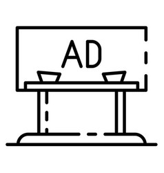 ad city billboard icon outline style vector image