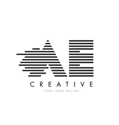 Ae a d zebra letter logo design with black and vector