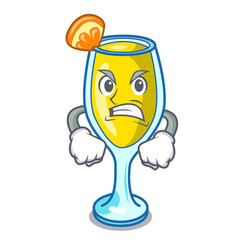 Angry mimosa mascot cartoon style vector