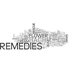 Bach flower remedies to rescue text word vector