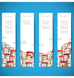 Banners with colorful homes vector image