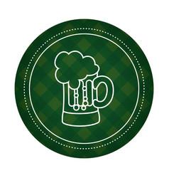 Beer glass badge symbol vector