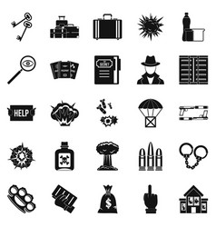 Blame icons set simple style vector