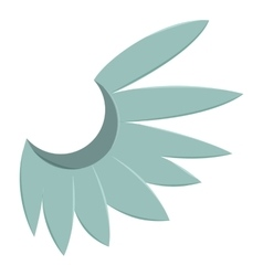 Blue wing of bird icon cartoon style vector