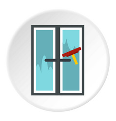 Brush washes a window icon circle vector