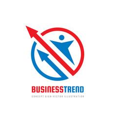 business trend logo design human character vector image