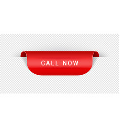call now sticker tag banner label sign vector image