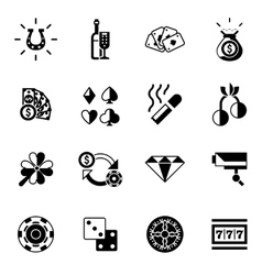 Casino Icons Black vector