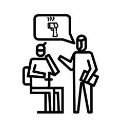 check body temperature icon symbol activity vector image