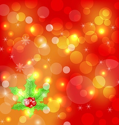 Christmas holiday wallpaper with decoration vector