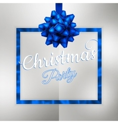 Christmas night party poster or flyer EPS 10 vector image