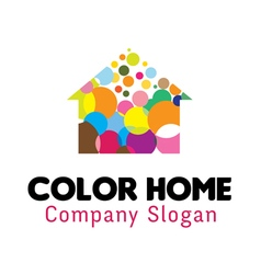 Color Home Design vector image
