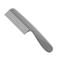 comb for hairbarbershop single icon in monochrome vector image