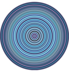Concentric pipes circular shape in multiple blue vector