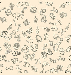 contour seamless pattern the style of childrens vector image