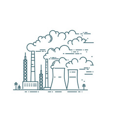 dangerous city air pollution linear vector image